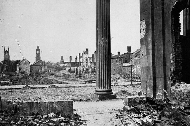 Civil War photo - View of Charleston, South Carolina after it fell to the Union Army in 1865.