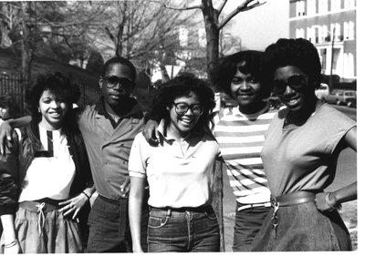 Stephane Jasmin, Jerry DeBerry, Cynthia Wong, Valerie Norris, and Danita Tankersly circa 1985.
